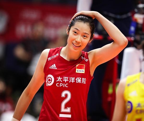 주팅(198cm) 중국 여자배구 대표팀 주 공격수