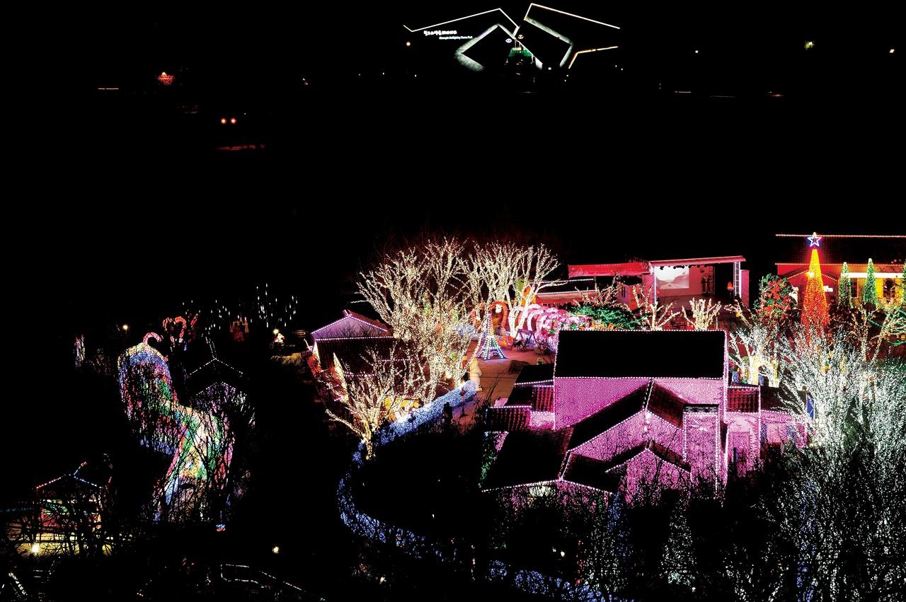 빛의 축제가 펼쳐지는 청도 프로방스.