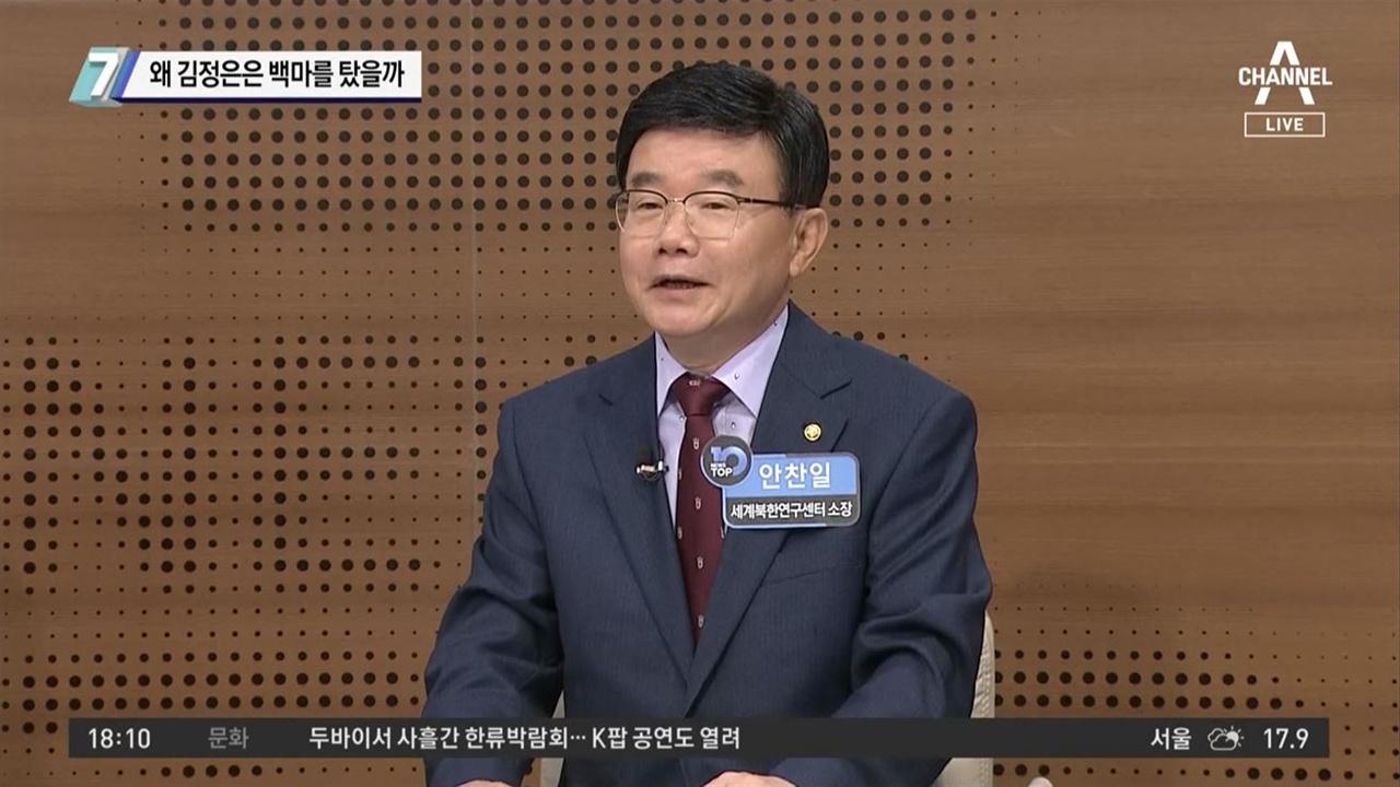 김정은 위원장 백마와 조국 전 장관 사퇴의 연관성을 주장한 안찬일 씨 채널A <뉴스TOP10>(10/16)