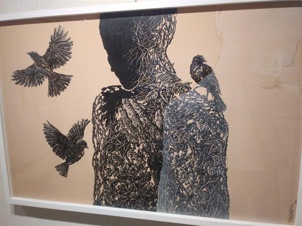 참가작품 김지은 작품 '지장 그리고 새'