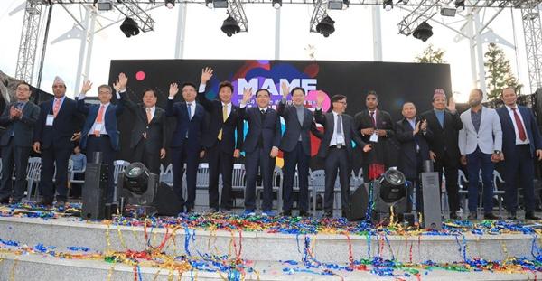10월 27일 창원 용지문화공원에서 열린 '맘프 다문화퍼레이드'.