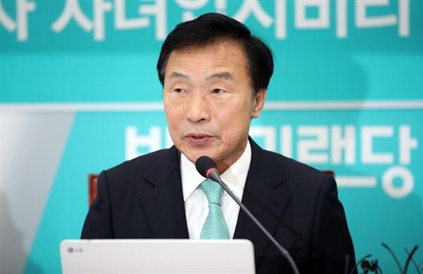 바른미래당 손학규 대표가 28일 오전 국회에서 열린 제161차 최고위원회의에서 발언하고 있다