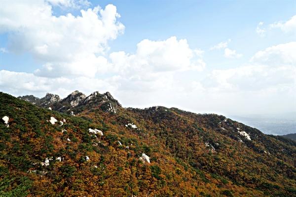오봉에서 바라본 도봉산 신선대 풍경