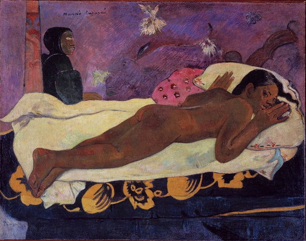 「마나오 투파파우(악령이 지켜보고 있다)」 1892년  올브라이트녹스 미술관