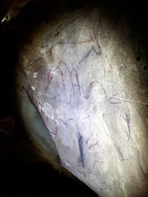 호이쳉헤르( Khoid Tsenkher) 동굴에는 그 당시(20000~15000년전) 동굴에서 살던 원시인들이 그렸던 동굴벽화가 있다. 어렵사리 동굴을 찾아가 후래쉬를 비춰 촬영했다. 바닥에는 박쥐의 배설물이 넘쳐났다. 호이쳉헤르 동굴벽화는 세계문화유산에 등재된 동굴벽화다.