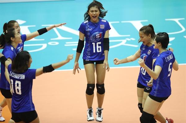 '태국 대표팀 복귀' 삠삐차야(16번)... 2018 세계선수권 대회 경기 모습 (2018.10.2)