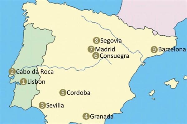 이베리라 반도  이베리라 반도 주요 도시