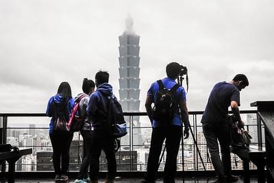 대만 타이베이의 랜드마크 '타이페이101'의 전경