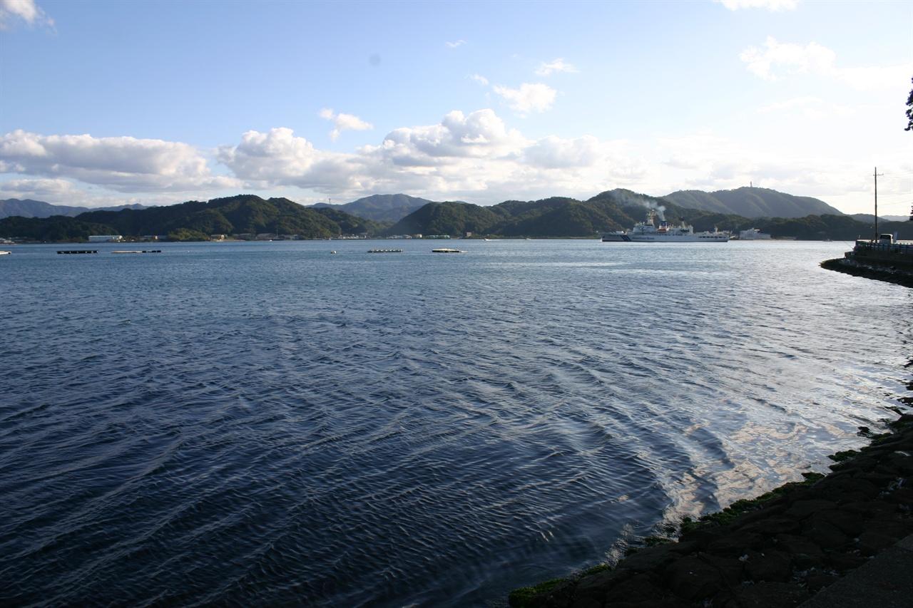 우키시마호가 침몰된 일본 교토부 마이즈루시 내해.