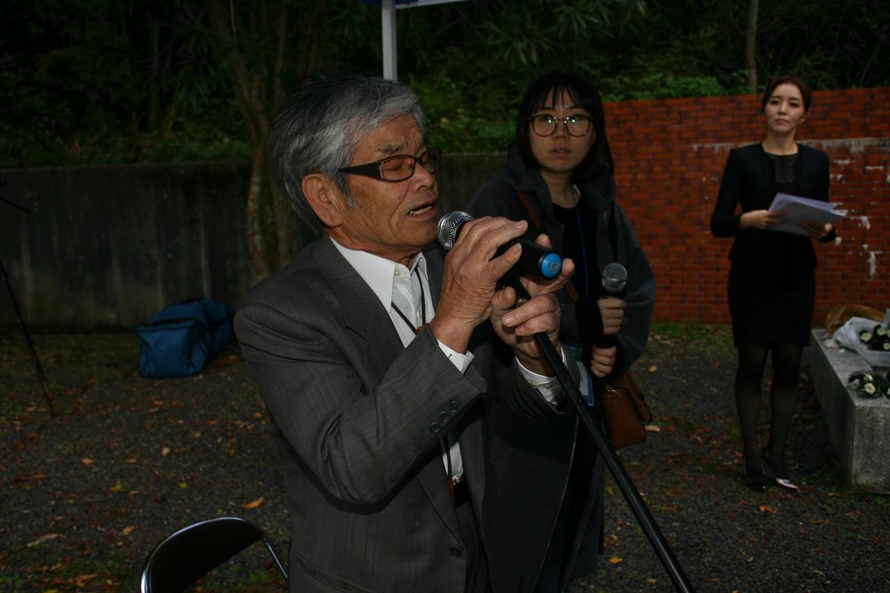 순난의 비를 세운 일본인 가츠히코 씨