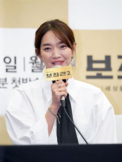 JTBC 월화드라마 <보좌관2> 제작발표회. 강선영 역의 배우 신민아.