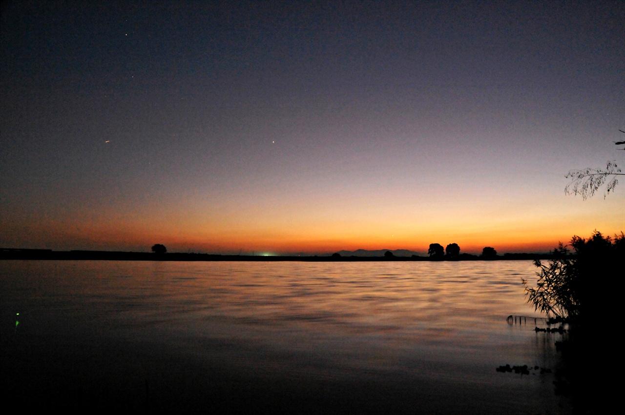 곡교천의 밤 풍경