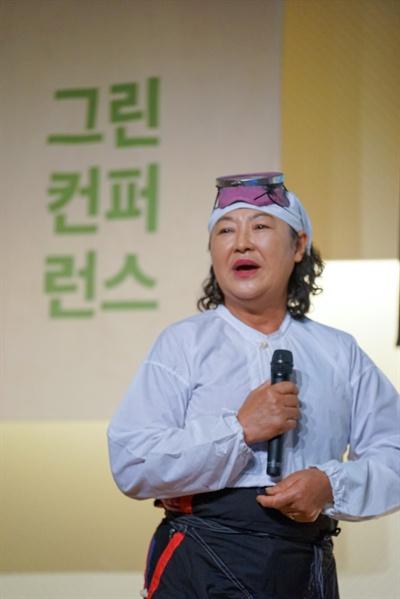 기후 위기로 제주 우도 앞 바닷속의 생태계가 망가졌다는 걸 증언한 해녀 김혜숙 씨