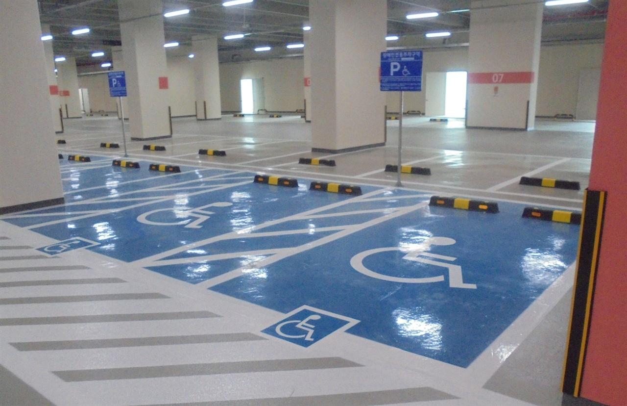 성남시 장애인 전용주차구역 모습