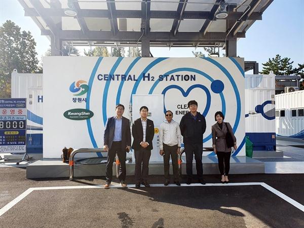 11월 8일 램 티워리 유엔 아시아태평양 경제사회이사회 경제담당관이 창원시 수소충전소를 방문했다.