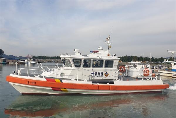창원해양경찰서 마산파출소에 배치된 신형 연안구조정.