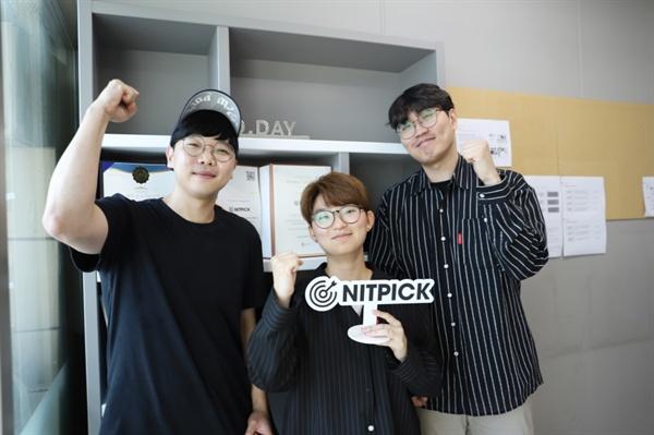 순서대로 닛픽 김준영 대표 신정희 팀원, 조재원 COO