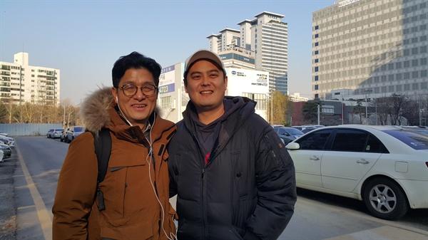 김병기 감독과 조민웅 기자