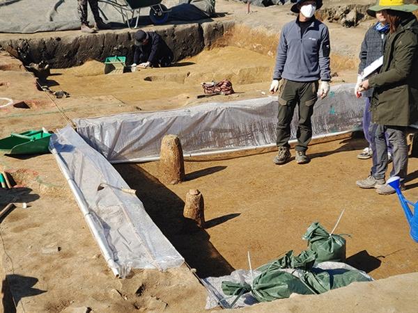 부여 관북사 역사 유적과 관련해 현재는 도성으로 추정되는 장소를 발굴하고 있는 중입니다.