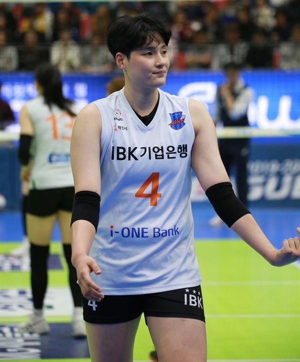 김희진(IBK기업은행)... 2019-2020시즌 V리그 경기 모습 (2019.11.3)