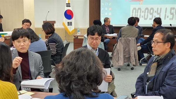 11일 오후 교육시민단체 대표들이 서울시 의원회관에 모여 '대입공정성'에 대한 토론회를 열고 있다.