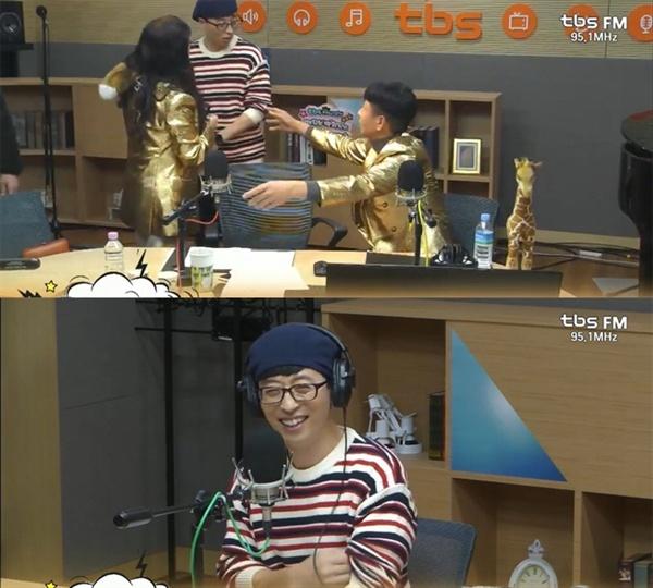 지난 14일 신인 트로트 가수 유산슬(유재석)은 tbs FM 인기 프로그램 < 9595쇼 > 깜짝 초대손님으로 출연해 청취자들에게 즐거움을 선사했다.