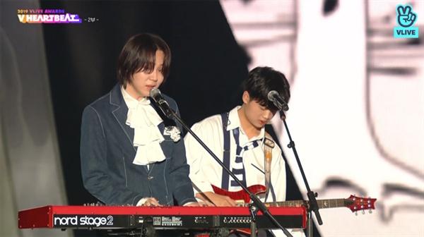2019 브이라이브 어워즈 V하트비트 시상식에 출연한 호피폴라 (방송화면 캡쳐)