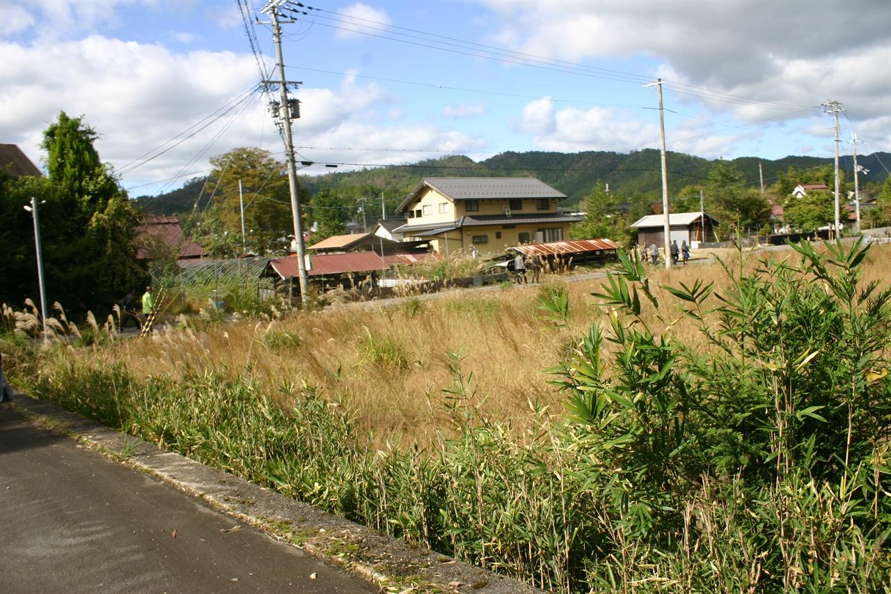 일본의 농촌 풍경.