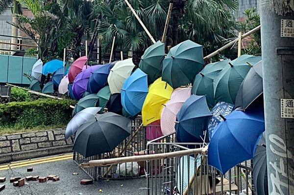 박창진 정의당 국민의노동조합특별위원장이 17~19일 홍콩에서 보내온 사진.