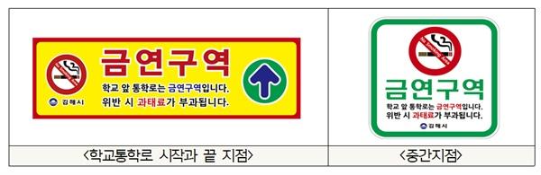 김해시, 16개학교 주요 통학로 금연거리 지정.