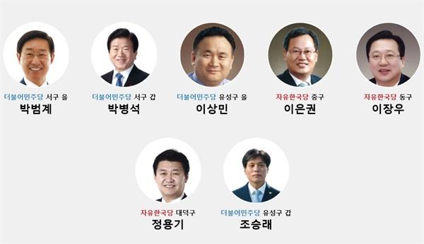 대전지역 국회의원
