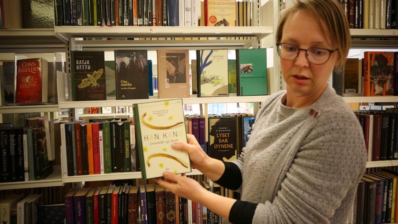 노르웨이 둠바스(Dombas) 마을의 도브라공립도서관 사서, 싱엔나(Signe) 씨.
