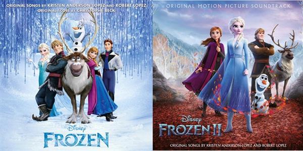 영화 < 겨울왕국 >1편, 2편 사운드트랙 음반 표지