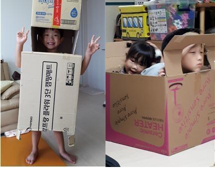 박스 롯봇과 자동차 박스 로봇과 오빠 얼굴이 자동차인 택시