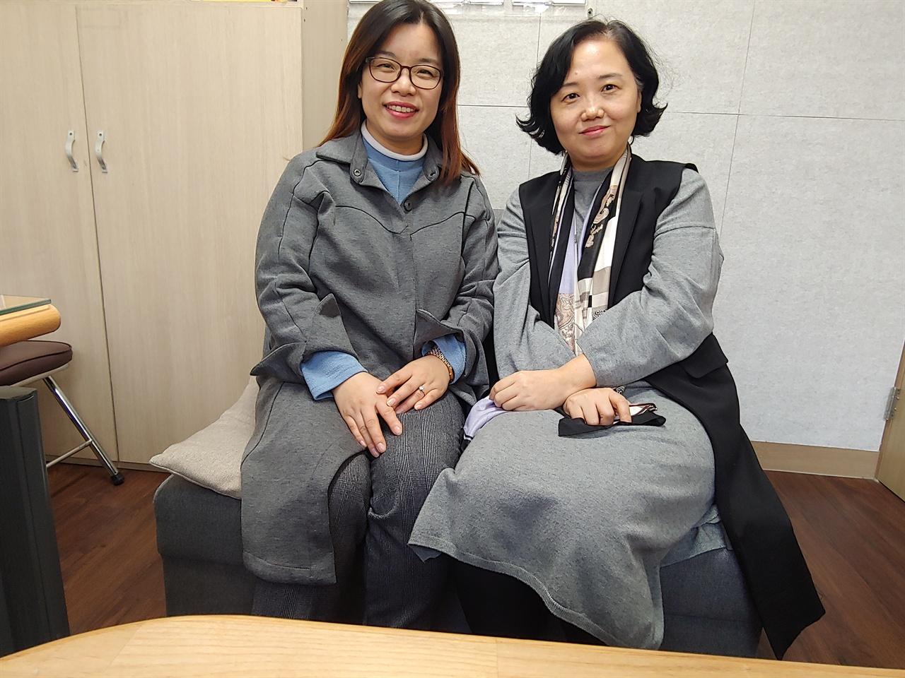 정현주 대전1366 센터장 왼쪽이 대전1366 정현주 센터장