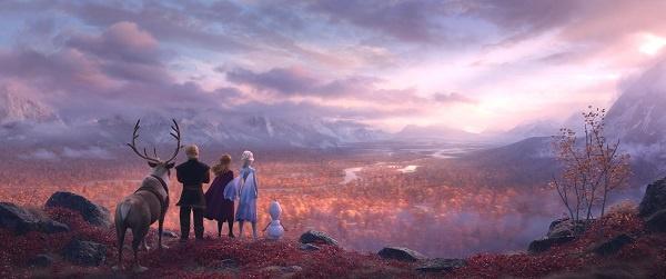 <겨울왕국2>의 한 장면