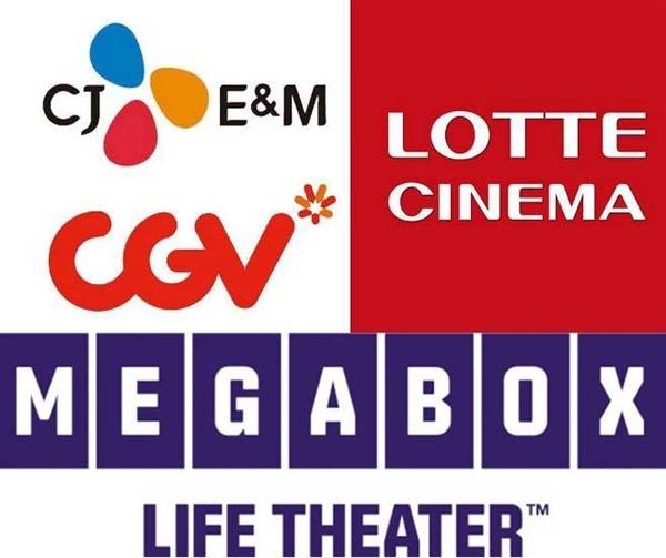 전체 스크린의 97%를 차지하고 있는 3대 극장 체인