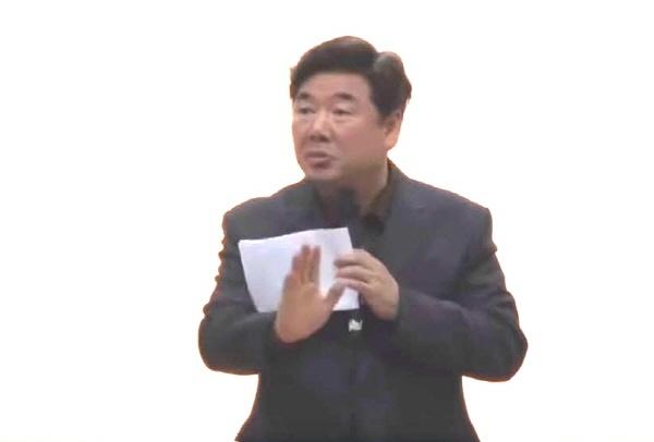 고성국 박사가 지난 23일 오후 대구 남구보건소에서 중·남구 자유한국당 당원특강을 하고 있다
