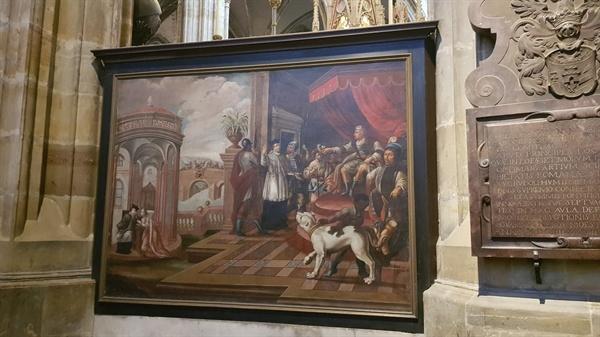 네포무츠키의 전설. 네포무츠키는 왕궁의 개에게 귓속말을 하며 고해의 비밀을 지킨다.