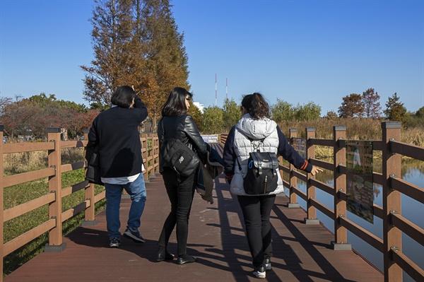 강릉에서 자유여행을 즐기고 있다.