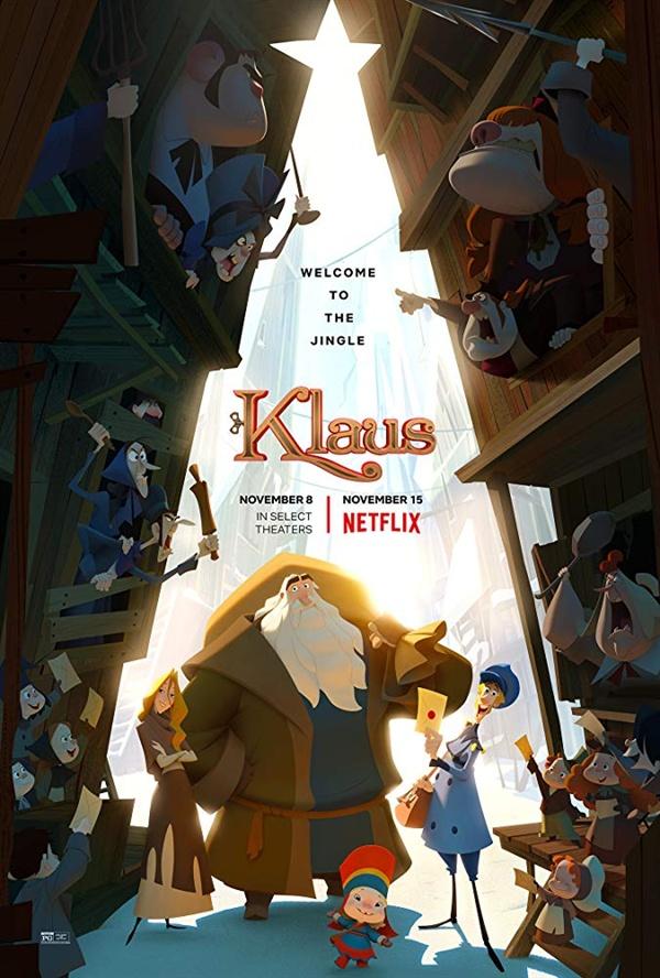 넷플릭스 오리지널 애니메이션 <클라우스> 포스터.