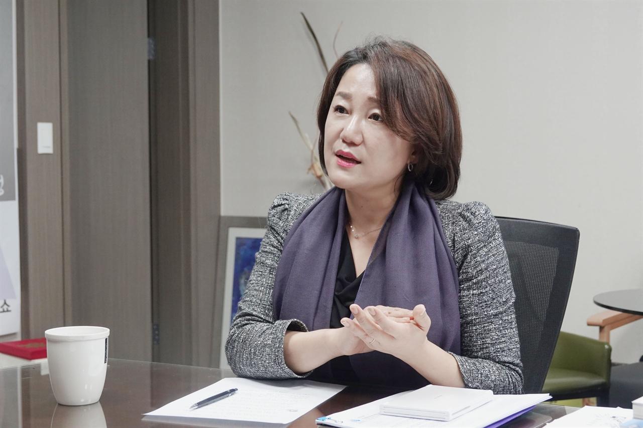 이재정 의원이 지난 4일 인터뷰를 진행하고 있다.