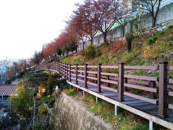 온골마을 작은 체육공원 산책로