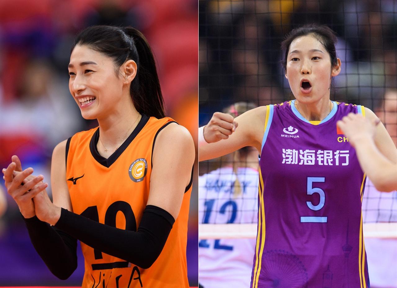 김연경-주팅 선수... 2019 클럽 세계선수권 대회