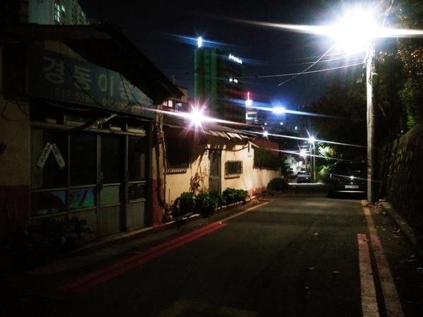 온골마을 밤 풍경