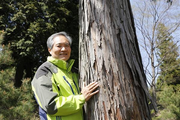 정은조 숲속의 전남 이사장. 정 이사장은 잘 가꾼 숲이 주민의 자긍심이고, 지역경제도 살린다고 강조했다.