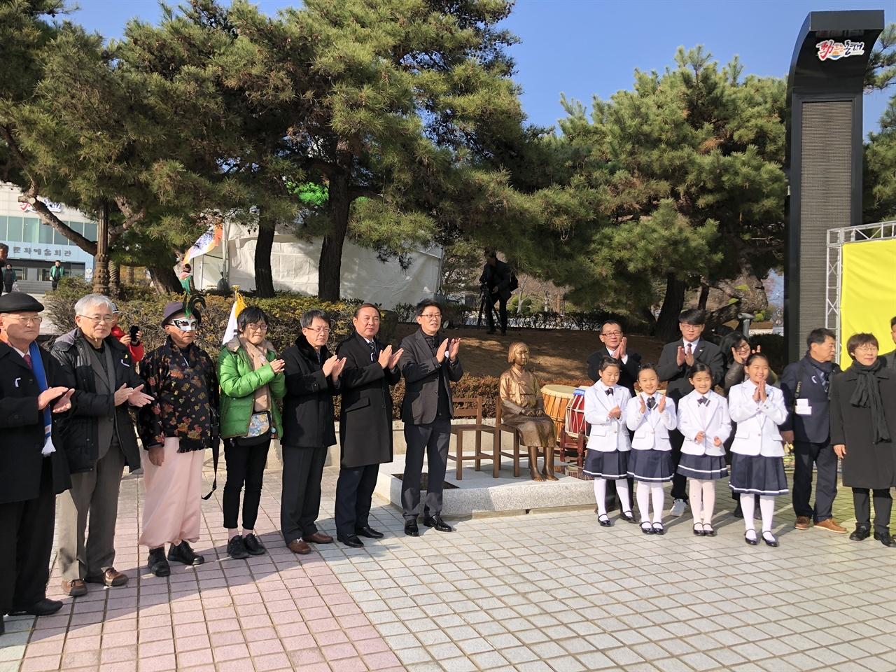 동해 평화의 소녀상 제막식 동해문화예술회관 마당