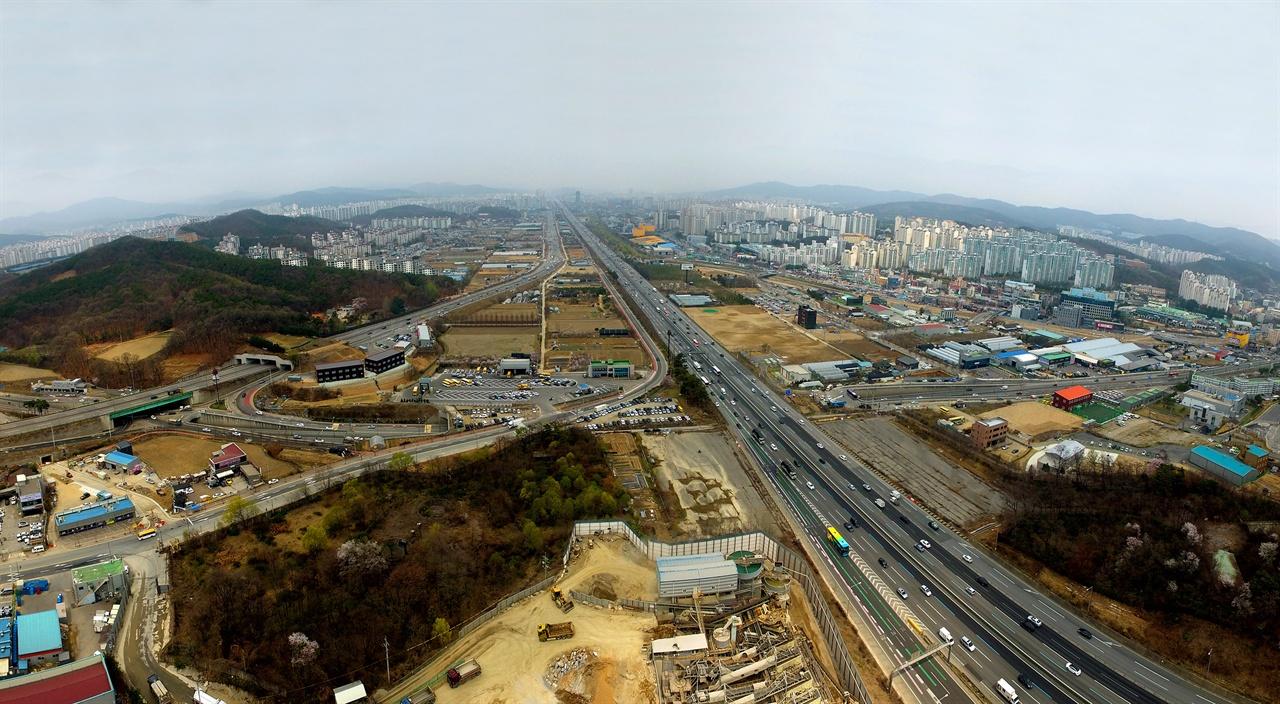 보정 마북 신갈동 플랫폼시티 예상구역 전경