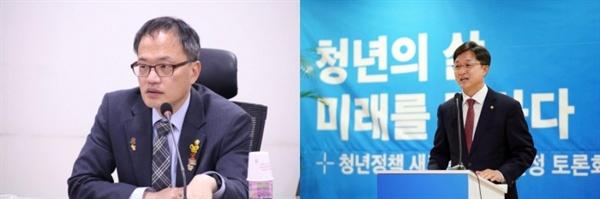 박주민 의원(왼쪽)과 강병원 의원.