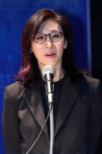 지난 2018년 3월 광주에서 열린 2018 아시아문화포럼에서 노소영 아트센터나비미술관장이 기조 강연을 하고 있다.